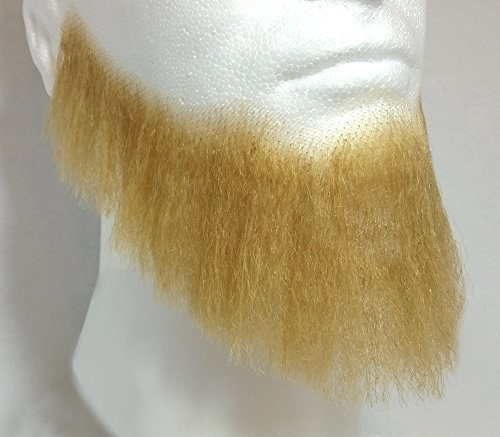 Full Character Beard BLONDE - 100% Human Hair - no. 2024 - REALISTIC! Perfect for Theater and Stage - Reusable!