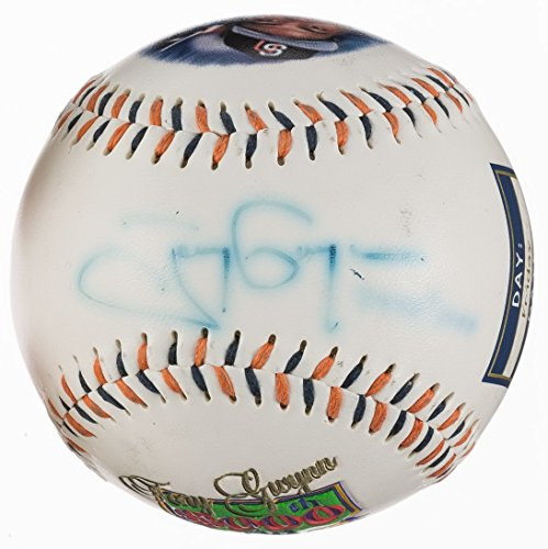 (TONY GWYNN SIGNED MULTI PANEL 3000th HIT COMMEMORATIVE BASEBALL SAN DIEGO PADRES)