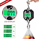 Hanging Scale Digital LED display, night vision function, convenient to read 150Kg/330Lb Digital LED Backlight Hanging Crane Heavy Duty Postal Scale Industrial Shipping With 2 Hooks