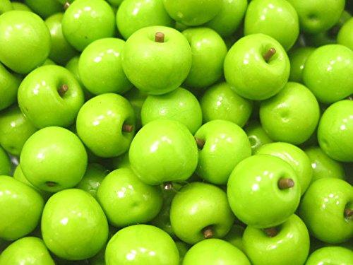 Dollhouse Miniature Food Lot 100 Green Apple Fruit Supply WHOLESALE Charms (Wholesale Miniature Tea Sets)