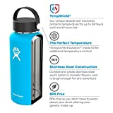 Hydro Flask Wide Mouth Water Bottle, Straw Lid, Old Style Design - 40 oz, Frost