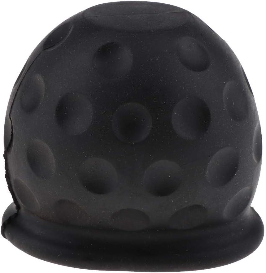 non-brand Sharplace Cover de Attache Remorque Cap de Barre dattelage 50mm Noir