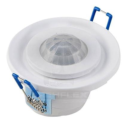 DREHFLEX® Pequeño 360 ° Techos Detector de movimiento, 20 ° inclinable blanco 800 W