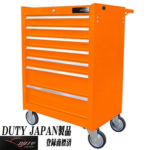 Duty Japan 強化7段ローラーキャビネット (オレンジ) B06WLH952D オレンジ