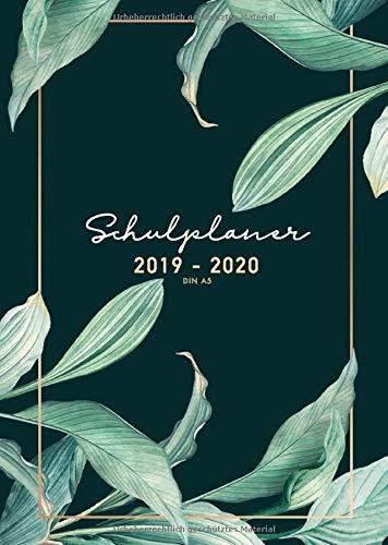 Schulplaner 2019 2020 A5  Schulplaner 2019 2020 Schüler Mädchen And Jungen Zum Planen Organisieren Und Notieren   Kalender Taschenkalender Und Terminkalender Schüler 2019   2020