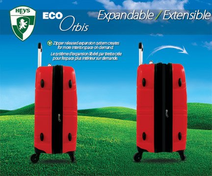 Heys - Core Eco Orbis Lila Trolley mit 4 Rollen Medium