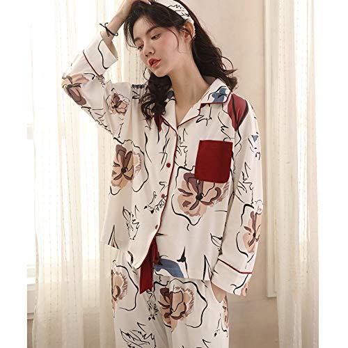 Para Mujer Algodón L Manga Larga Xxl De Baujuxing Pijama qzTwXfw7