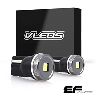 VLEDS 2pcs 70lm 5000K White 194 T10 2825 360° Long Life 1 LED Bulb: Automotive