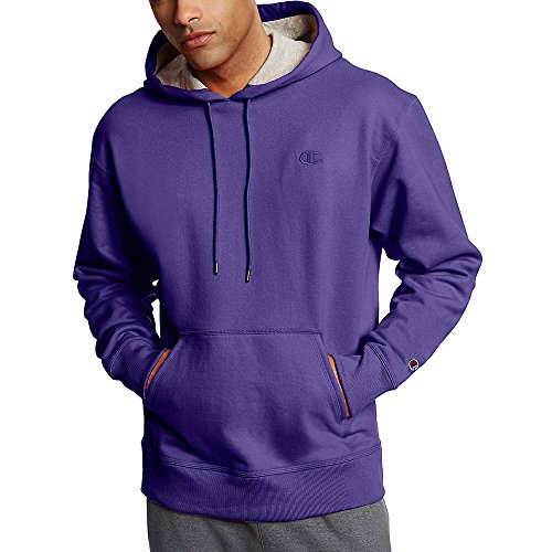 Champion Men's Powerblend Fleece Pullover Hoodie_Purple_M (Perfect Bra Size For A 16 Year Old)