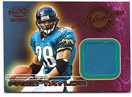 c06b4444 Fred Taylor 2000 Pacific Authentic Game Worn Jersey #2 - Jacksonville  Jaguars