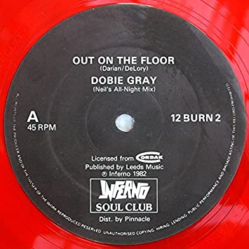 Dobie Gray Out On The Floor All Night Mix 12in Red Vinyl 23270