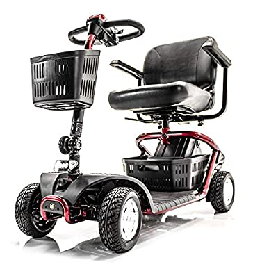 LiteRider 4-Wheel Folding Light Scooter GL141 + Challenger Mobility Accessories + 3-Year Service Plan BUNDLE