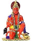 Speedwav 28237 Lord Hanuman Car Dashboard God Idol (Orange)