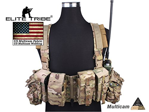 Airsoft Combat Tactical Molle Vest LBT 1961A-R Style Load Bearing Chest Rig Multicam MC by Paintball Equipment