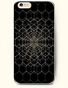 Black And Yellow Hexagon Pattern - Honeycomb Pattern - Phone Cover for Apple iPhone 6 Plus ( 5.5 inches ) - SevenArc ...