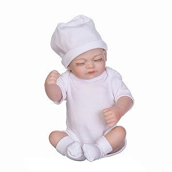 RIsxffp Realista Recién Nacido Suave Silicona Bebé Reborn muñeca ...