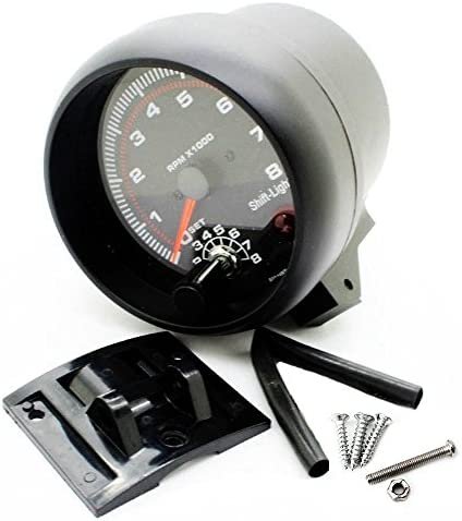 "3.75 /"" universell Auto Tachometer Meter Anzeige LED Shift Licht 0-8000 Drehzahl"