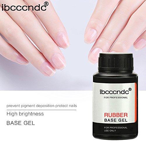 Nails Art Tools - Hot Nail Gel - Rubber Top Base Coat - Rubber Base Coat - Top Coat - Gel Nail Polish Long-Lasting - No-Clean Soak-Off LED UV Gel Color (30ML, Top)