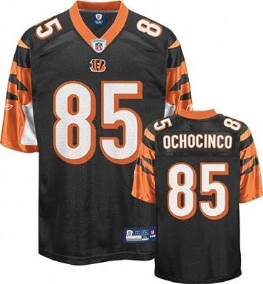 1f34e86d Chad Ochocinco Jersey: Reebok Black Replica #85 ... - Amazon.com