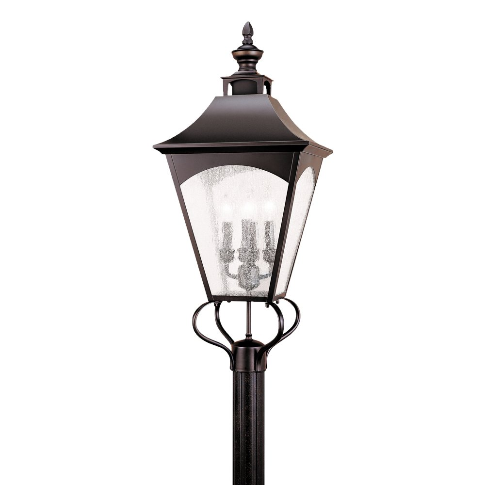 Feiss OL1008ORB 4-Bulb Outdoor Wall Lantern, Oil Rubbed Bronze Finish