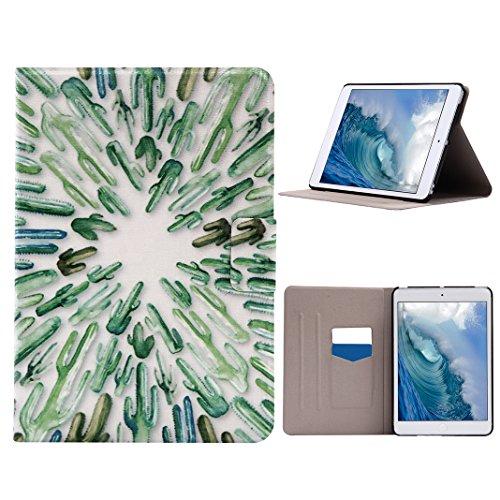 Carcasas iPad Mini 1 2 3, iPad Mini Tablet Flip Cubiertas con Auto-Sueño / Estela Función, iPad Mini 2 Fundas, iPad Mini 3 Bolsas, Moon mood® Tableta Funda para Apple iPad Mini 1/2/3 7.9 pulgadas PU C Auto-Cactus