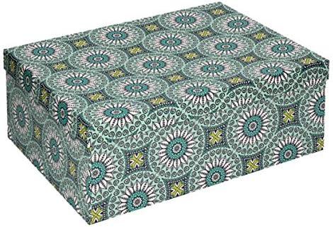 Vacchetti S.p.A - Caja de cartón Decorada Verde, 20 x 12,5 x 7,5 ...