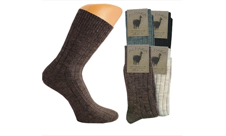 4er oder 6er Pack Damen Alpaka Socken, dicke Wollsocken, wärmer geht nicht, Wolle