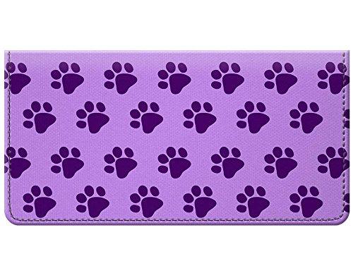 (Snaptotes Purple Paw Print Design Checkbook Cover)
