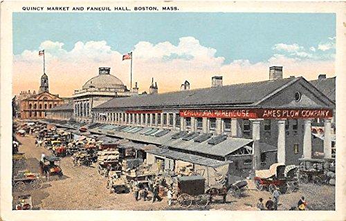 Quincy Market & Franeiul Hall Boston Massachusetts Postcard