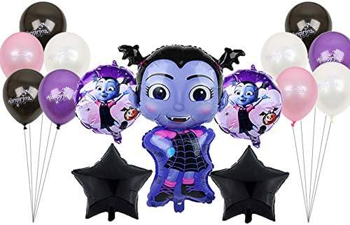 Snner 15pcs / Set Globo De Halloween del Vampiro Pentagram De La Bruja De Helio Globos Foil Juguetes para Niños Fiesta De Halloween Látex Vampirina ...