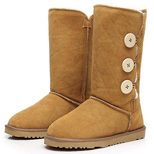 stivali da neve Al Casual donna invernale 1073 basso Camel Fibbia Shenn ginocchio da qBd8pA8x