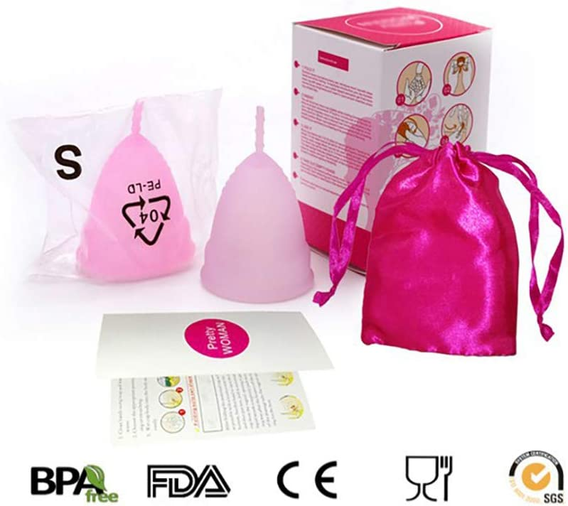 Circulación Impermeable Mujer Copa Menstrual de silicona 70 ...