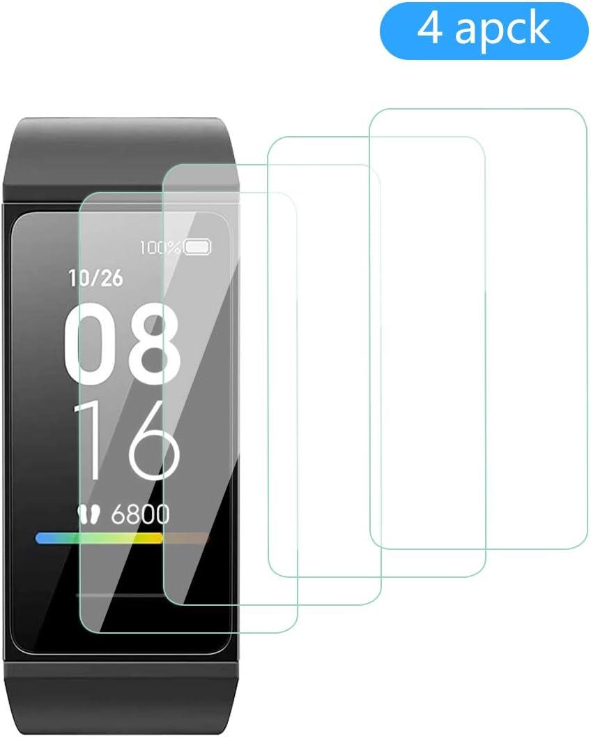 Aerku Protector de Pantalla para Xiaomi Mi Smart Band 4C [4 Piezas],9H Dureza Alta Sensibilidad 2.5D[Sin Burbujas] Cristal Templado Protector de Pantalla para Xiaomi Mi Smart Band 4C[Transparente]: Amazon.es: Electrónica