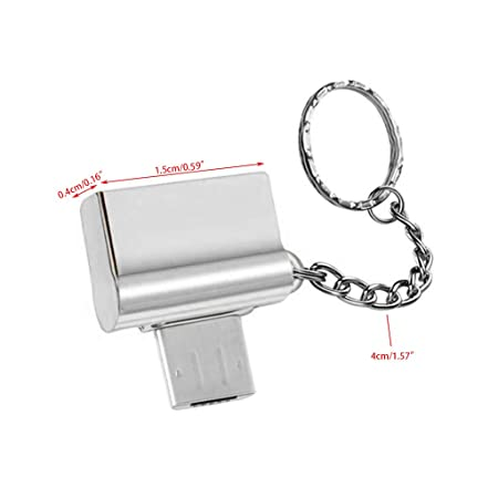 Baoyl - Adaptador USB (OTG a USB 2.0 A, con Llavero): Amazon ...