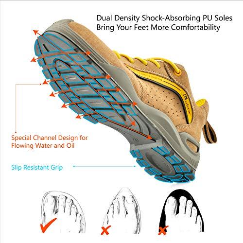S1p L Légères De Basket Travail Safeyear 7296y Chaussures Respirantes Jaune Sécurité qaYW8B