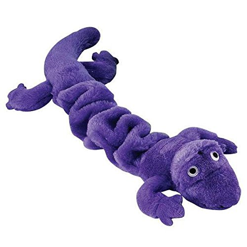 Gecko Lizard Bungee Dog Toys Durable Plush Stretch Colorful Squeaky Toy For -