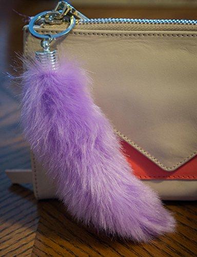 Furry Friends , Sac pour femme à porter à l'épaule Rose bébé 18cm long violet