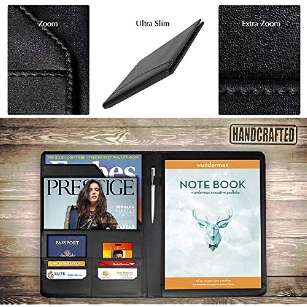 padfolio portfolio vegan leather binder business folder