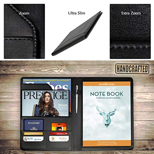 wundermax padfolio portfolio leather folder business
