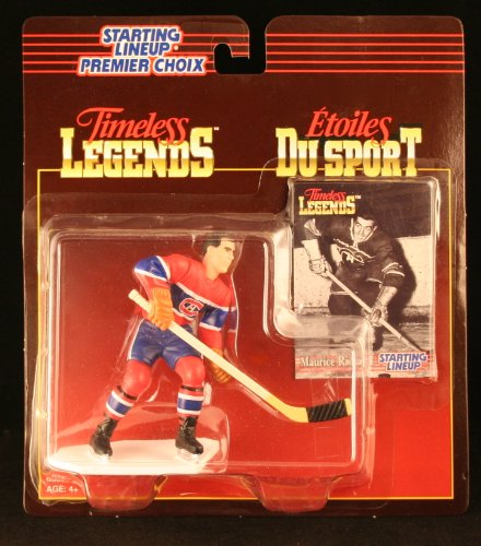 MAURICE RICHARD / MONTREAL CANADIENS 1995 Timeless Legends NHL Starting Lineup & Collector Trading Card * CANADA EXCLUSIVE SERIES *