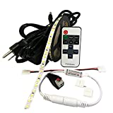Under Cabinet LED Lighting Kit - Complete LED Strip Lights Kit for Kitchen Counter Lighting - 12V LED Dimmable RF Controller - Power Supply (Warm White Kits)
