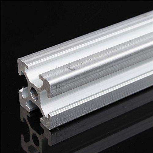wishfive 500/mm L/änge 2020/t-slot Aluminium Profile Extrusion Rahmen f/ür CNC
