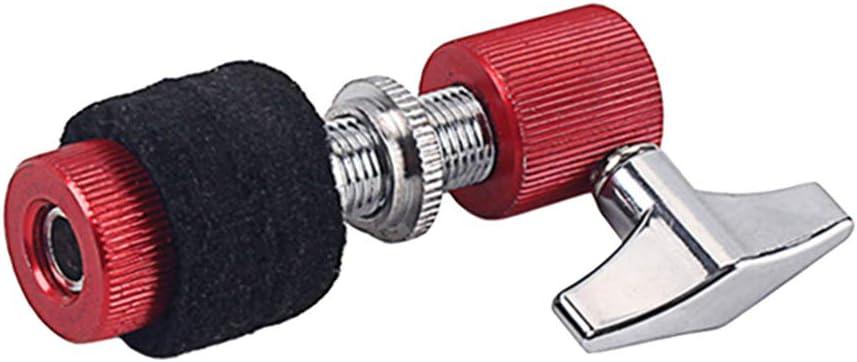 Shiwaki 3x Pochette Hi Hat Rouge,High Hat Embrayage,Stand HiHat Tilter Drop Support dEmbrayage 80,5x40x22 mm