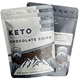 Keto Mini Dark Chocolate Chips | 2 Pack - 12 Oz | Healthy, Low-Carb Snack, Great Macros for Baking | Gluten, Soy, Dairy, & Sugar-Free | Non-GMO | Melts Like a Dream Cacao