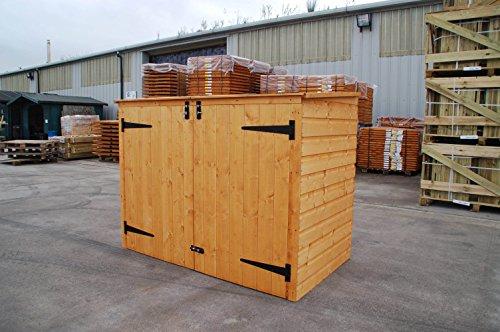 Bosmere Rowlinson A042 Garbage Bin Storage Shed, 69u0027u0027 X 53u0027u0027 X