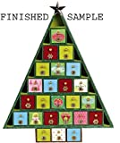 20 Inch Tall Christmas Tree Shaped Advent Calendar, Countdown Calendar, 24 Removable, Fillable Drawers - Unfinished Wood Ready to Decorate and Personalize - Includes Free Finishing Ideas Book