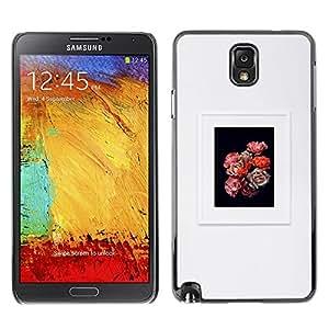 Marco Flores Pétalo Ramo Negro Gris- Metal de aluminio y de plástico duro Caja del teléfono - Negro - Samsung Note 3 N9000
