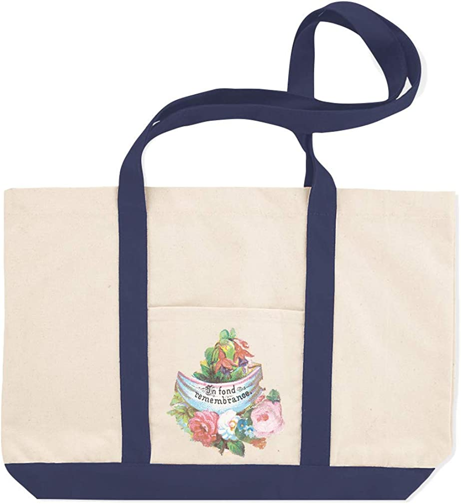 Canvas Shopping Tote Bag Flower in Fond Remembrance Funny /& Novelty Flowers Beach for Women