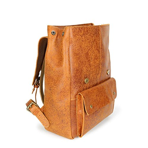 Bolso Grande la Point Hombro Viaje de Viento point computadora BAO Escuela del flash Mochila Doble del Bolso de de Estudiante Flash la de Deep Universidad Retro de Cuero shallow ExaU4YwqU