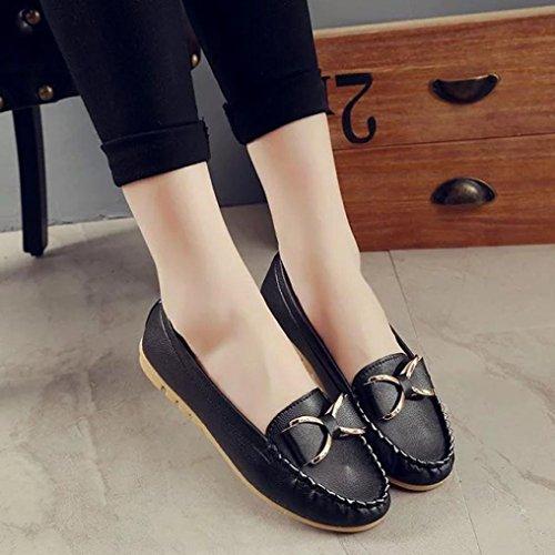 Frauen Boots Kaiki Black flachem beiläufiger Schuhen auf Slippers Freizeit atmungsaktiver Women's unterer Erbsen Beleg weicher w7xSE5x6q